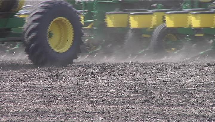 corn planting Caption