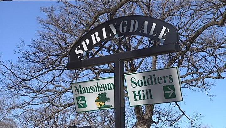 springdale cemetery Caption