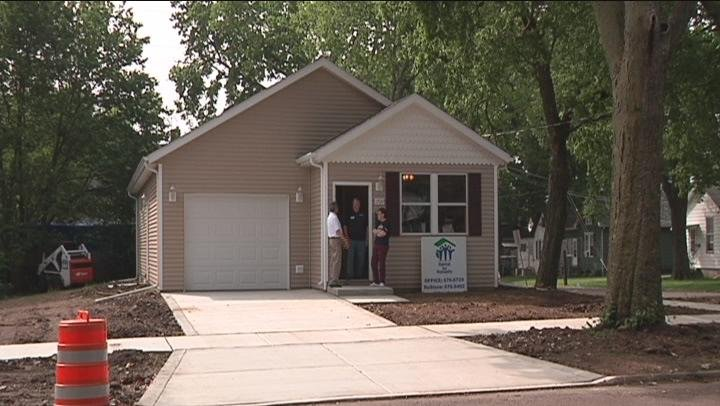 Habitat house being built for Mother of five