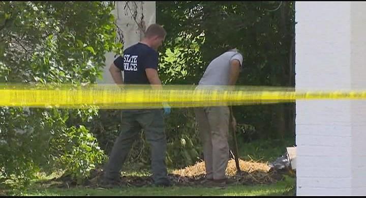 Scene where Dewey's body was found on September 12, 2016 in Standard, Ill.