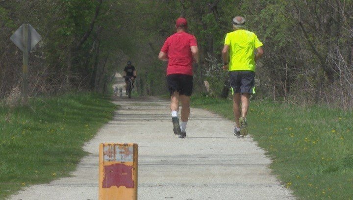The Peoria County Sheriff's Department urges people who use the trail to stay alert.