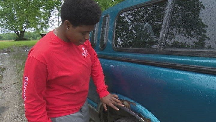 Sharquelle Smith bought her truck on Friday - and by Monday afternoon, it was vandalized.