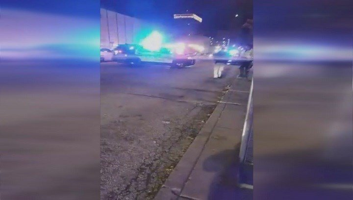 This picture is from video of the scene shortly after the shooting, provided by Brandon Gray.