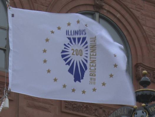 Illinois bicentennial flag