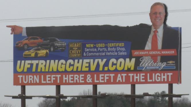 Uftring Chevy Billboard