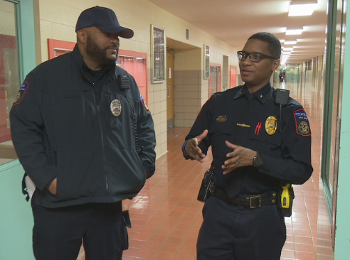 (Left) Manual Academy Resource Officer, Christopher Johnson, (Right) Chief Demario Boone, Director of School Safety