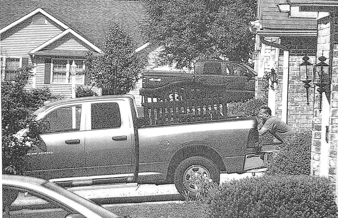 Photo obtained through a public records request by 25 News shows Jerry Mitchell outside of Backes' home. This was sent in an anonymous complaint about Mitchell's alleged relationship with Backes.