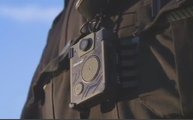 example of a body-worn camera for police officers