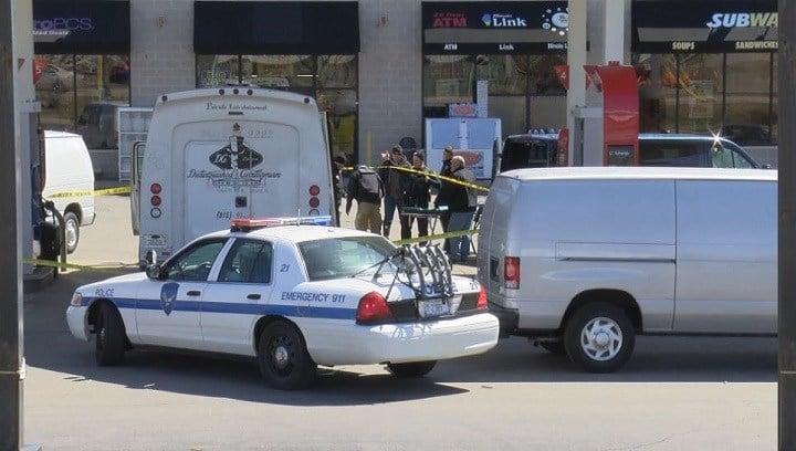 The scene Saturday morning in the 400 block of North Springfield Road, Rockford.