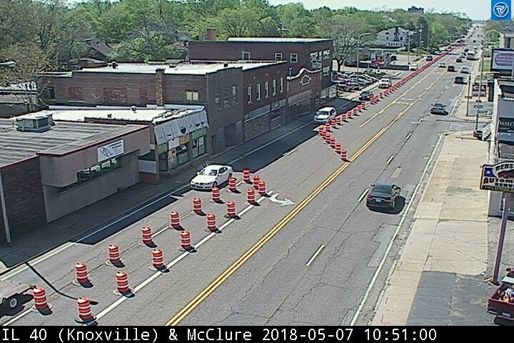 Lane closures on Knoxville will last now through September.