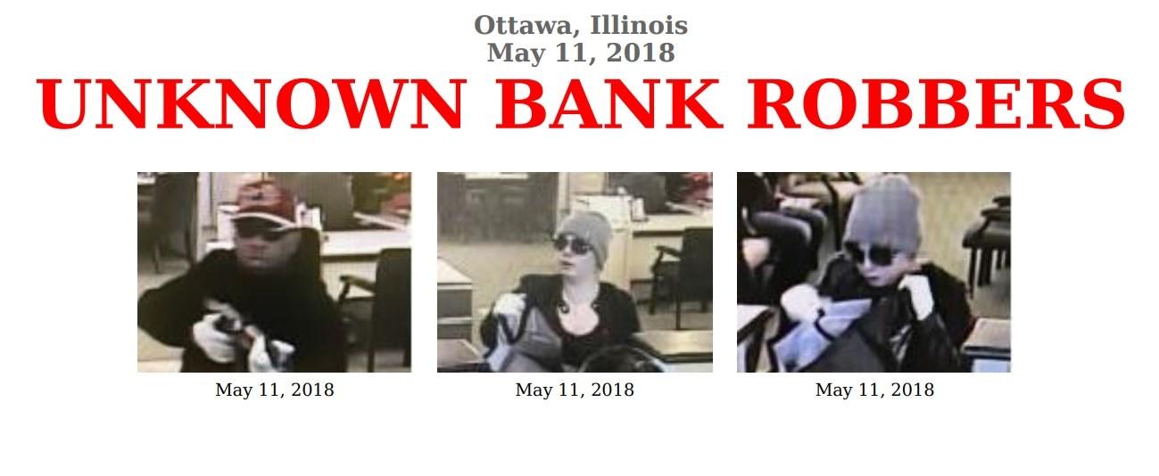 Ottawa, Ill. bank robbery suspects