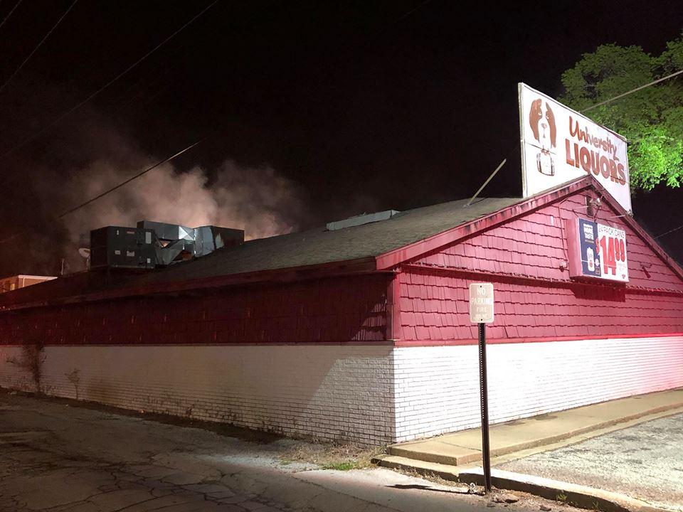 University Liquors Fire -- Picture Courtesy: Normal Fire Dept.