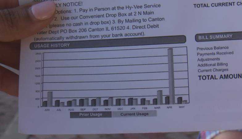 Canton residents water bill shows arbitrary spike in April