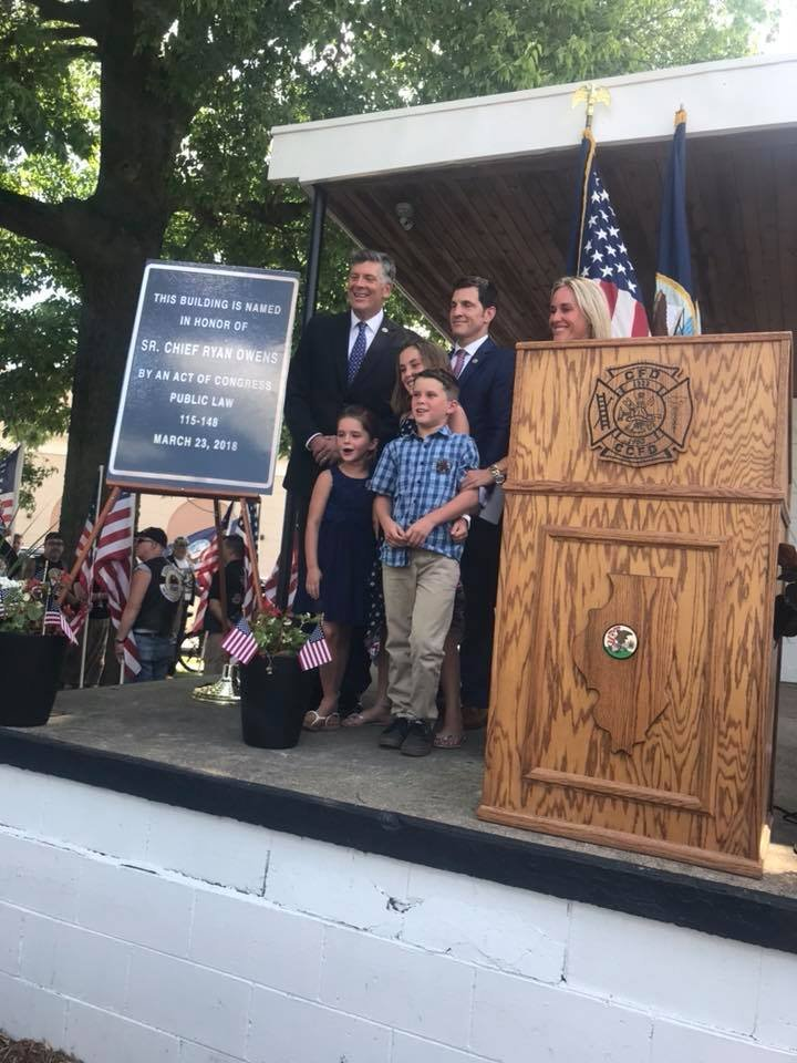 The family of Ryan Owens attended a post office renaming ceremony, June 18, 2018