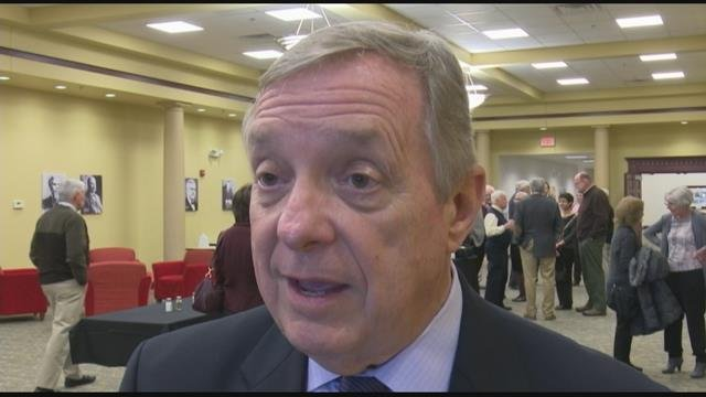 Senator Dick Durban came to Peoria to talk about the high cost of prescription drugs.